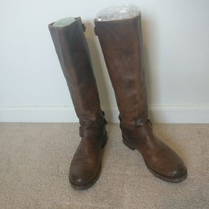 Frye brown sz 9 leather boots